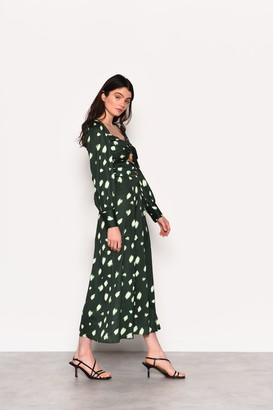 Glamorous Womens **Green Abstract Spot Printed Skirt By Green