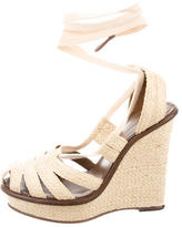 Bottega Veneta Platform Lace-Up Wedges