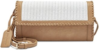Sole Society Deona Whipstitch Faux Leather Clutch