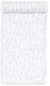 Kissy Kissy Baby's Silver Giraffe Print Cotton Blanket