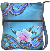 Anuschka Hand Painted Slim Crossbody Bag