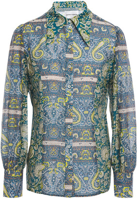 Antik Batik Printed Cotton And Silk-blend Voile Shirt