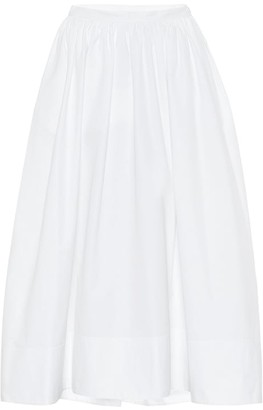 Jil Sander High-rise cotton-poplin midi skirt
