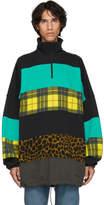 Balenciaga Black and Blue Oversized Chimney Sweater