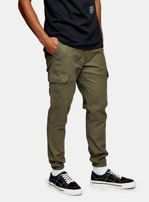 Topman Khaki Cargo Trousers