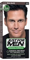 Just For Men Shampoo-In Hair Color, Real Black 55, 1 application (Pack of 3)