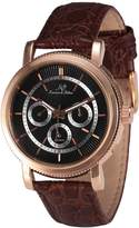 K&S KS KS248 Men's Automatic Mechanical Date Day Brown Leather Band Wrist Watch