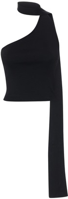 Cult Gaia Manuela One-shoulder Knit Top