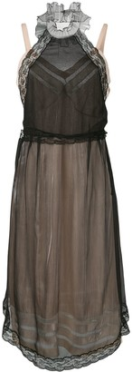 Prada lace detailed layered dress