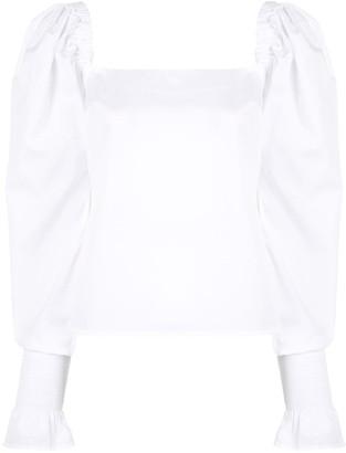 ANNA QUAN Marta square neck blouse