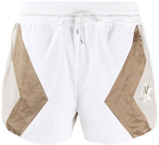 Lorena Antoniazzi Geometric Panel Shorts