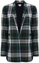 Suno Green Plaid Relaxed Blazer