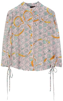 Loewe Shield Print Silk Blouse