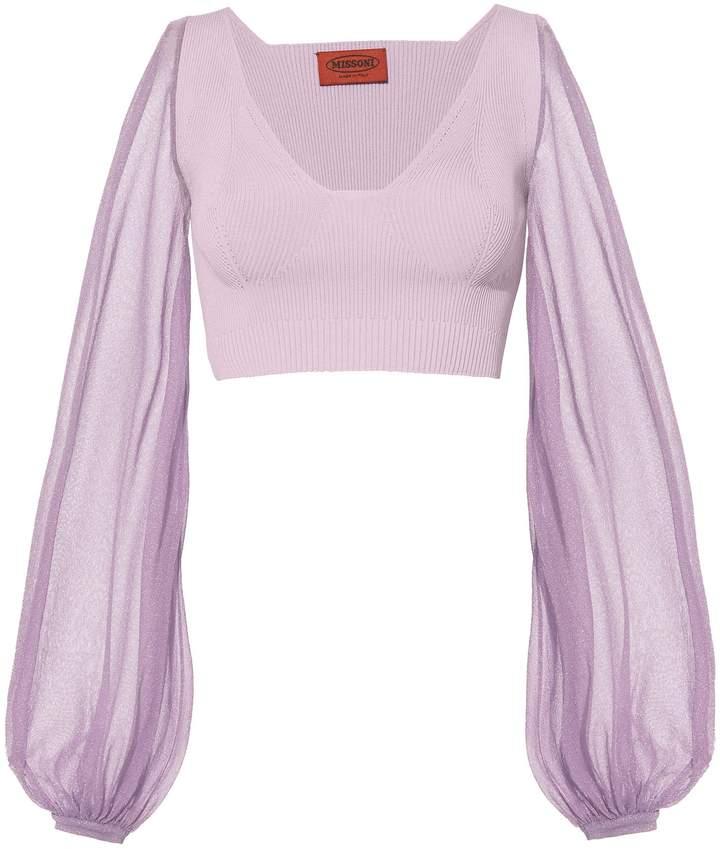 Missoni Lilac Crop Top