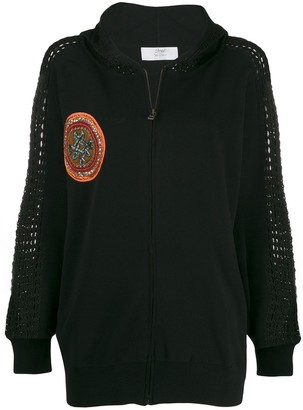 Mr & Mrs Italy Embroidered Patch Hooded Jacket