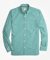 Brooks Brothers Gingham Broadcloth Sport Shirt