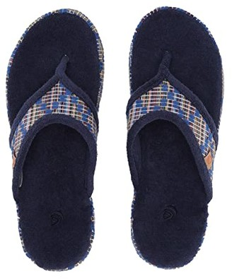 Acorn Thong Summerweight (Navy Blue Diamond) Women's Slippers