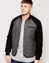 NATIVE YOUTH Contrast Sleeve Bomber