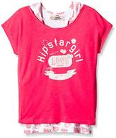 Camps Girl's Printed T-Shirt - Pink