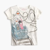 J.Crew Girls' Olive on roller coaster T-shirt