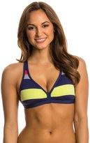 Jag Swimwear Newport Stripe Tie Back Soft Cup Bikini Top 8138450