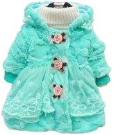 TRURENDI Cute Toddler Kids Baby Girl Warm Fleece Faux Fur Coat Outwear Winter Jacket Snowsuit