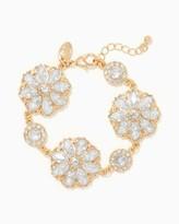 Charming charlie Flower Shower Stone Bracelet Only 1 left Name Qty Flower Shower Stone Bracelet 1 // Only 1 left in Gold/Clear!