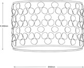 Thumbnail for your product : John Lewis & Partners Clara Cutwork Drum Shade, White