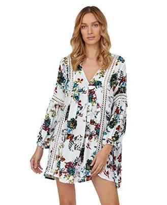 Stitch and Foley Floral Shift V Neck Dress (