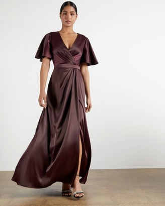 Ted Baker Short Sleeve Wrap Maxi Dress