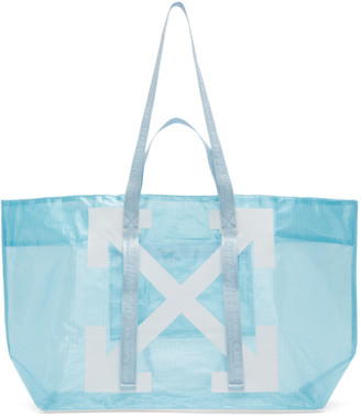 Off-White Blue PVC Arrows Commercial Tote