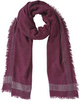 Joe Fresh Women's Metallic Trim Scarf, Burgundy (Size O/S)
