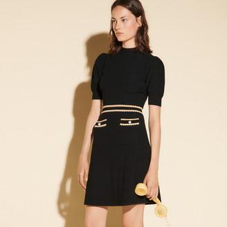 Sandro Houndstooth jacquard dress