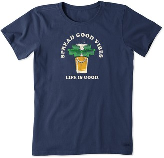 Life is Good Women's Double Vision Crusher Tee