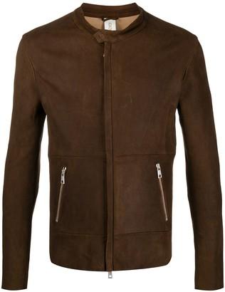 Giorgio Brato Concealed-Zip Leather Jacket