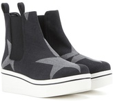 Stella McCartney Binx Denim Platform High-top Sneakers