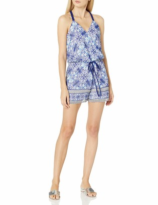 Adelyn Rae Women's Printed Surplice Romper