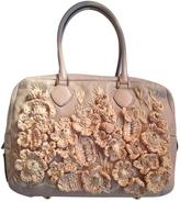 Valentino Ecru Leather Handbag