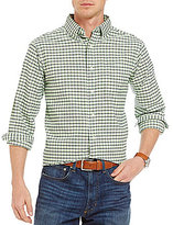 Daniel Cremieux Big & Tall Lightweight Washed Check Oxford Long-Sleeve Woven Shirt