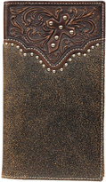 Ariat Brown Studded Cross Leather Wallet