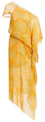 Roland Mouret Arklow Floral One-Shoulder Dress