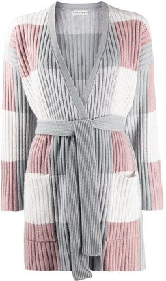 Etro Colour Block Waist-Tied Cardigan