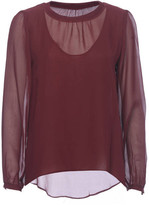 Gold Hawk Sheer Double Layer Top