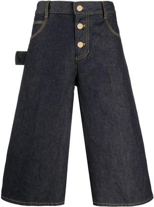 Bottega Veneta Flared Denim Shorts