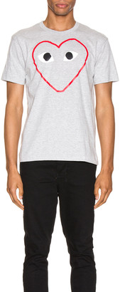 Comme des Garcons Heart Logo Tee in Grey | FWRD