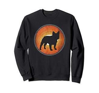 Breed Graphic 365 Dog French Bulldog Retro Style Sweatshirt