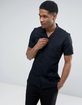 Reiss Slim Cuban Collar Shirt