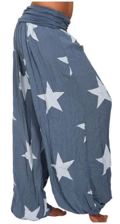 02e34ad882 Blue Printed Harem Trousers - ShopStyle Canada