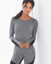 Soma Intimates Diamond Mesh Long Sleeve Sport Top