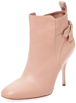 RED Valentino Leather Bow Bootie
